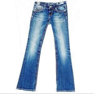 Miss me denim jeans embellished pockets size 26
